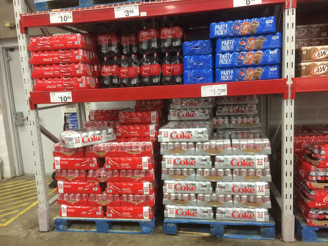 The coke on the shelf in SAMS Club.