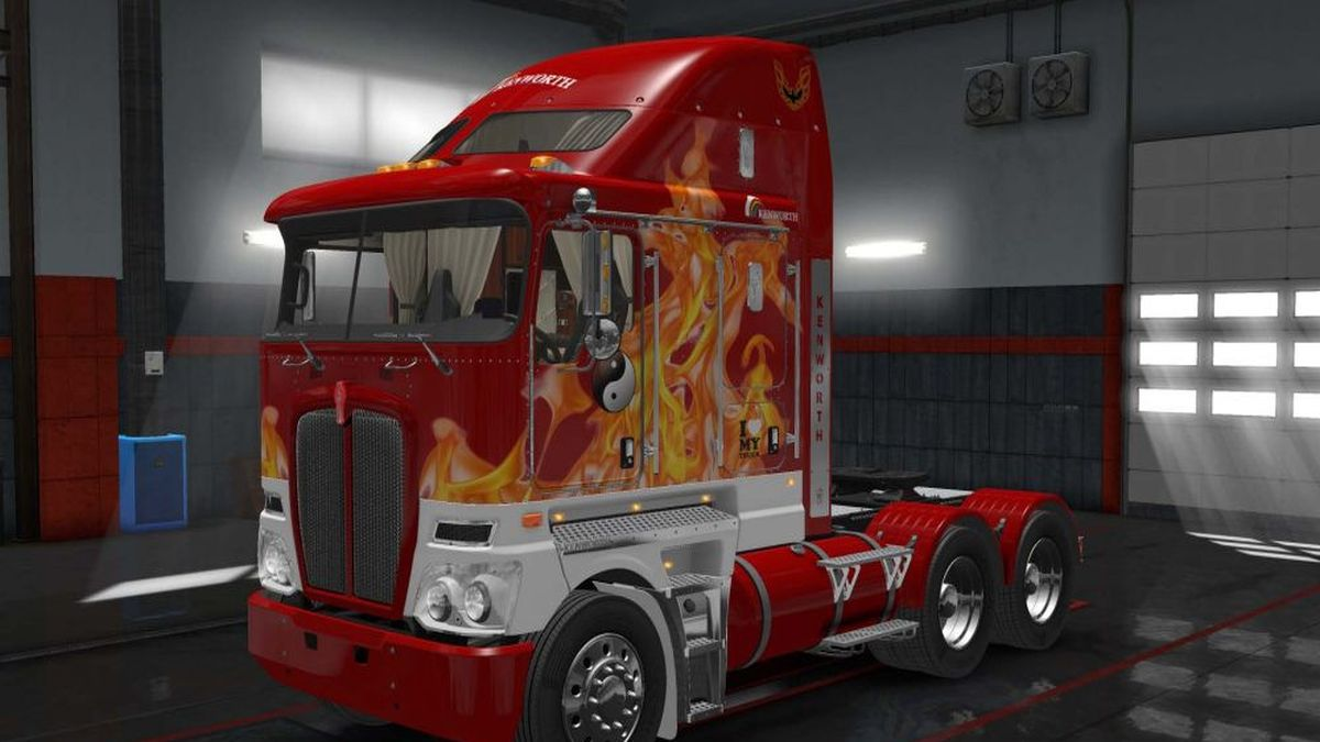 In Flame Skin for Kenworth K200
