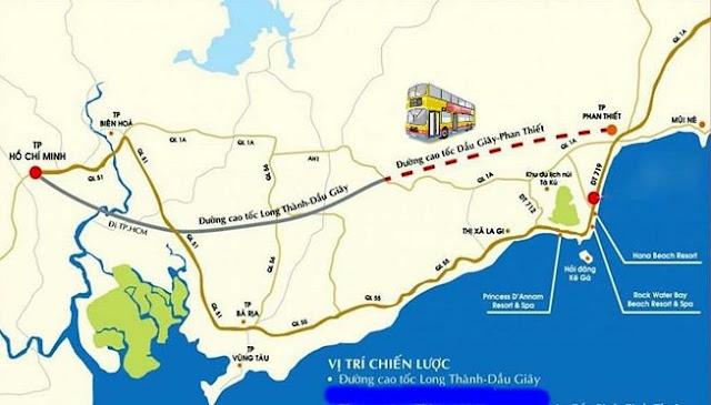 Tuyến cao tốc Dầu Giây - Phan Thiết có chiều dài 99km
