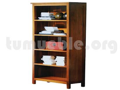 mueble libreria en teca 4104