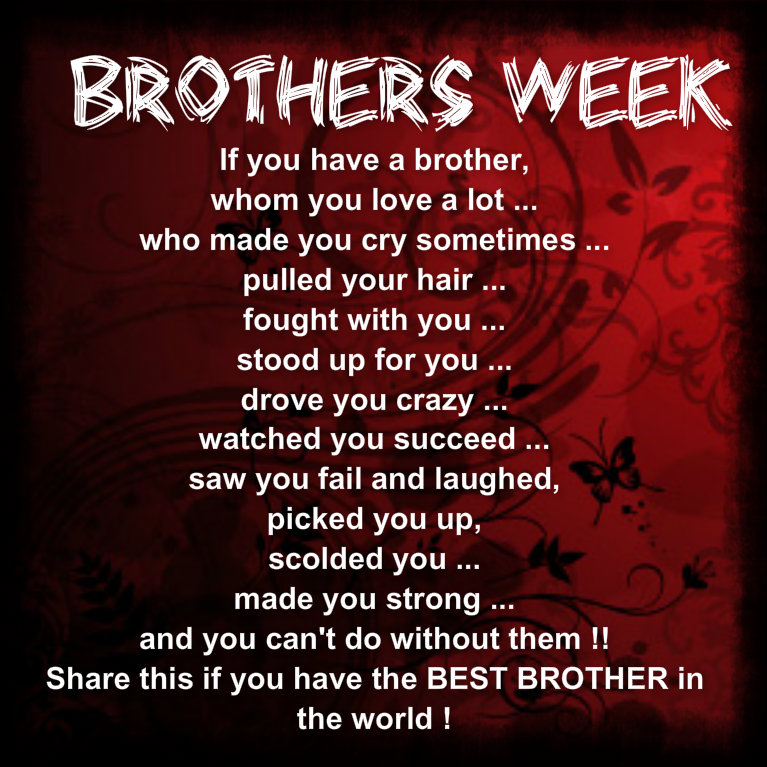 I Have The Best Sister In The World Quotes: Brother Quotes From Older Sisters. QuotesGram