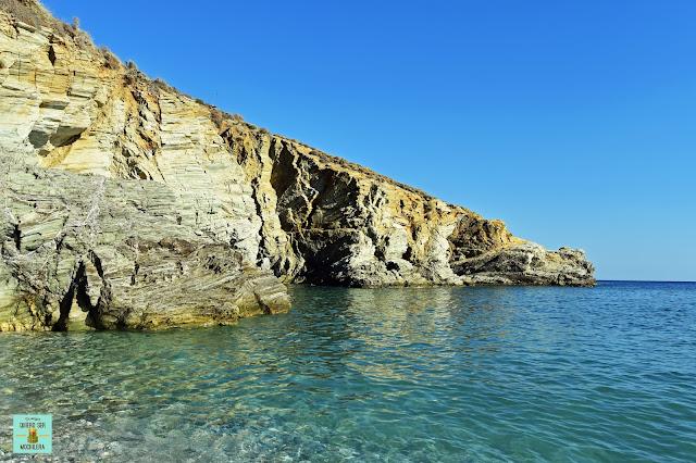 Playa Galifos, isla de Folegandros (Grecia)