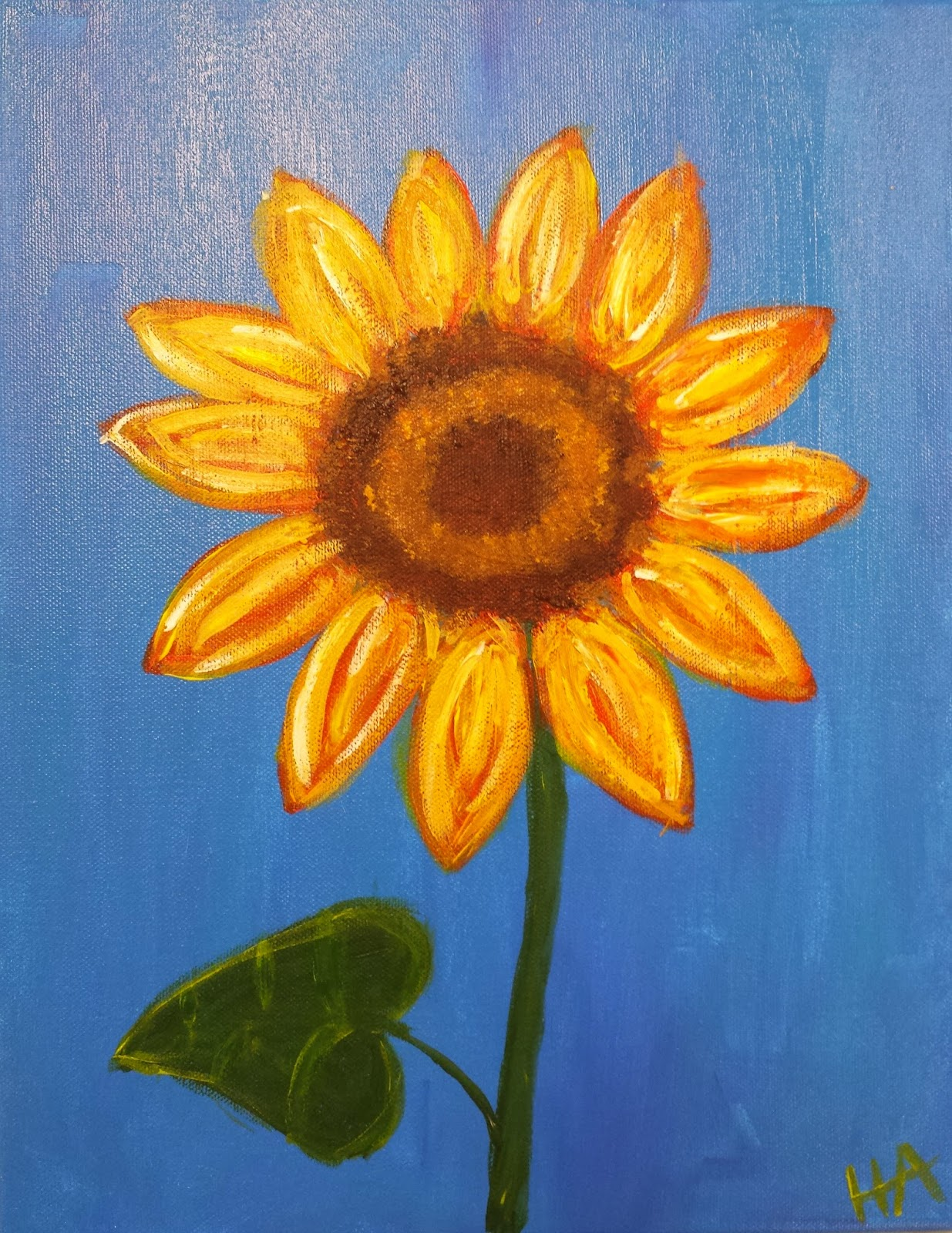 And They Did A Great Job With Their Sunflowers It Is Super Easy My Students Are Ages 7