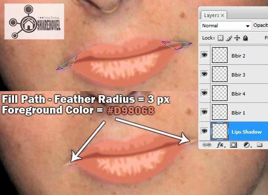 cara membuat kartun vector bibir menggunakan photoshop - tutorial membuat vector di photoshop - membuat foto menjadi kartun dengan photoshop
