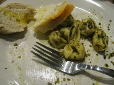 Tortellini with Pesto - Good to the last bite!