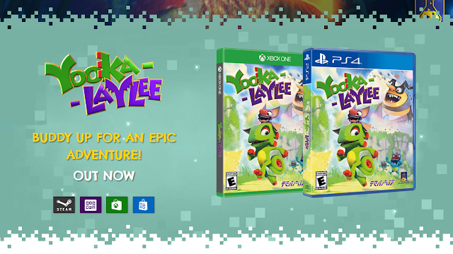 Playtonic Games Yooka-Laylee website released on Steam GOG.com Xbox One PlayStation 4 store