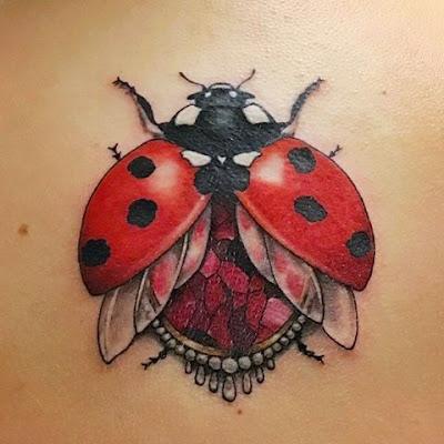 3D Traditional Ladybug Tattoo