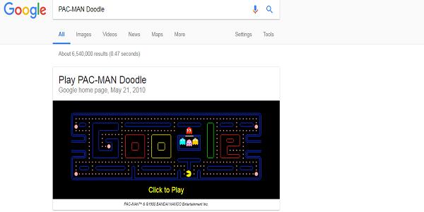 Game PAC-MAN Doodle