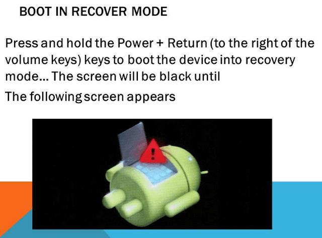 Cara masuk recovery mode biasanya bertujuan untuk mereset semua isi dan setting hp Android anda agar kembali seperti semula, dengan kata lain akan menghapus seluruh isi dan mengembalikan settingan bawaan.