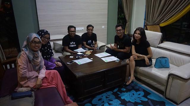 Bersama rakan blogger di Bam Bam Bistro