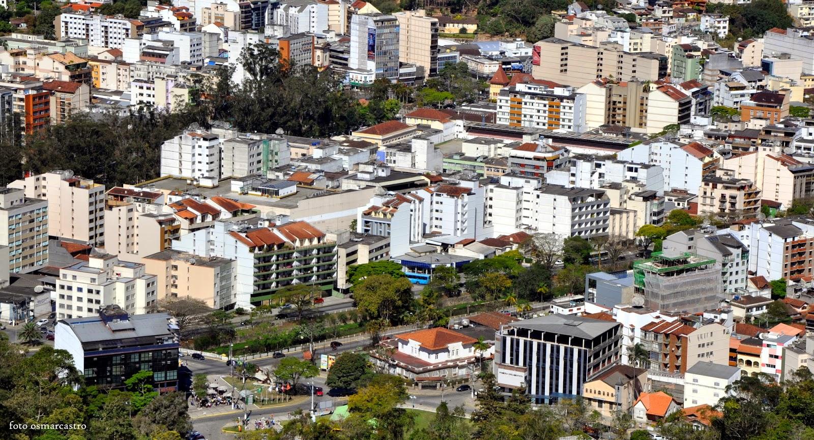 f2e535417 Vista do centro urbano e financeiro de Nova Friburgo