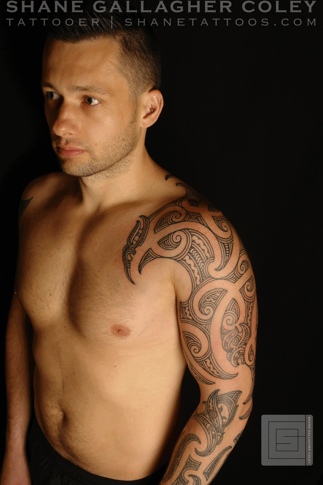 Ta Moko Tattoo: SHANE TATTOOS: Maori Sleeve Chest Ta Moko/Tattoo