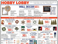 Hobby Lobby Weekly Ad Preview December 8 - 14, 2019