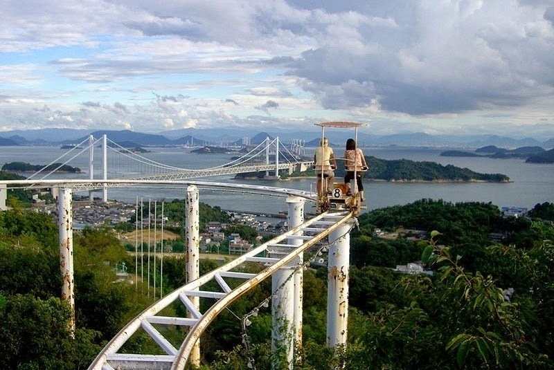 You tell us. Are these sweeping views of the Seto Inland Sea worth the ride? - Japan's Pedal Powered Roller Coaster Is The Most Unintentionally Terrifying Ride Ever.