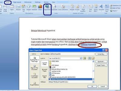 Hyperlink banyak ditemukan pada dokumen yang berformat doc Cara Buat Hyperlink Pada Tulisan Di Ms Word