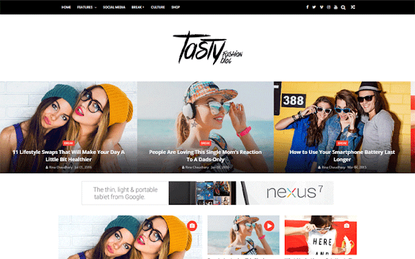 ChicMag Free Blogger Template