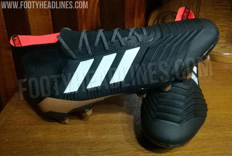 080cf4db3dfbf ... Adidas Predator 18 Launch Colorway - Core Black White Tactile Gold  Metallic Real Coral - December ...