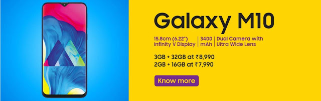 Samsung Galaxy M10 Price - Specifications - Offers