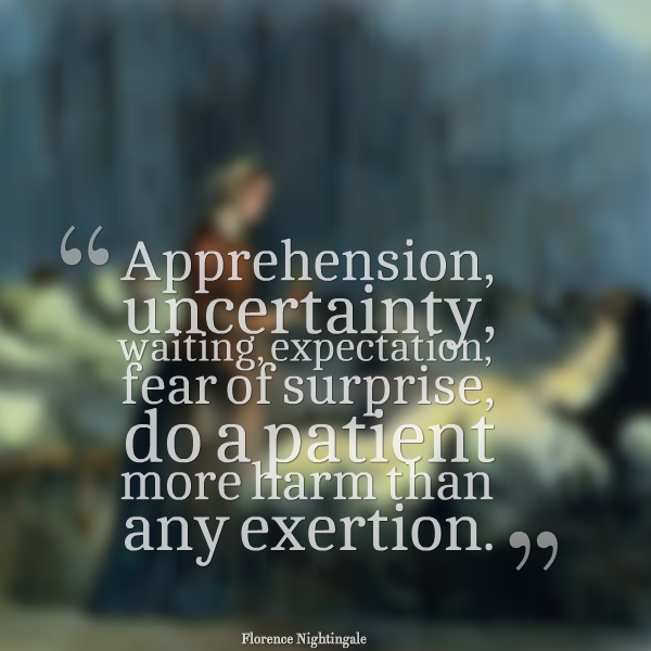 Quotes About Uncertainty In A Relationship: RNquotes: Apprehension, Uncertainty, Waiting, Expectation