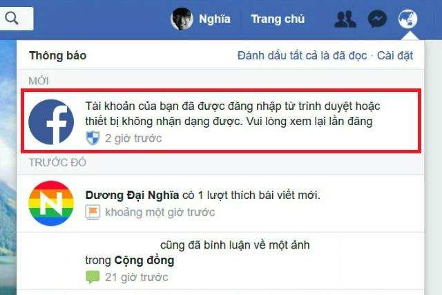 cảnh báo đăng nhập facebook 2