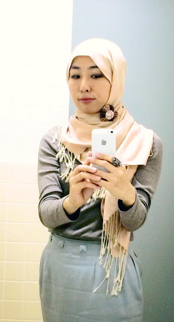 日本人ムスリマの秋スタイルのおしゃれヒジャブ