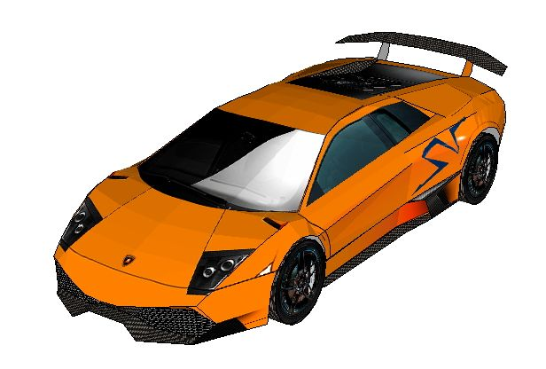 Lamborghini Murcielago SV Template Download