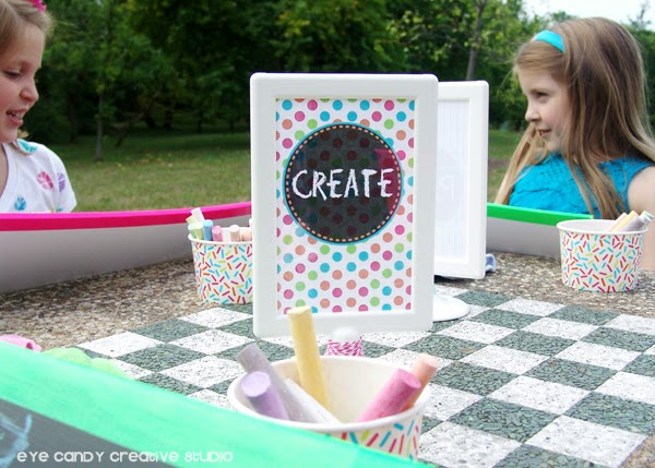 ideas for a kids art party, art party in the park, outdoor party idea