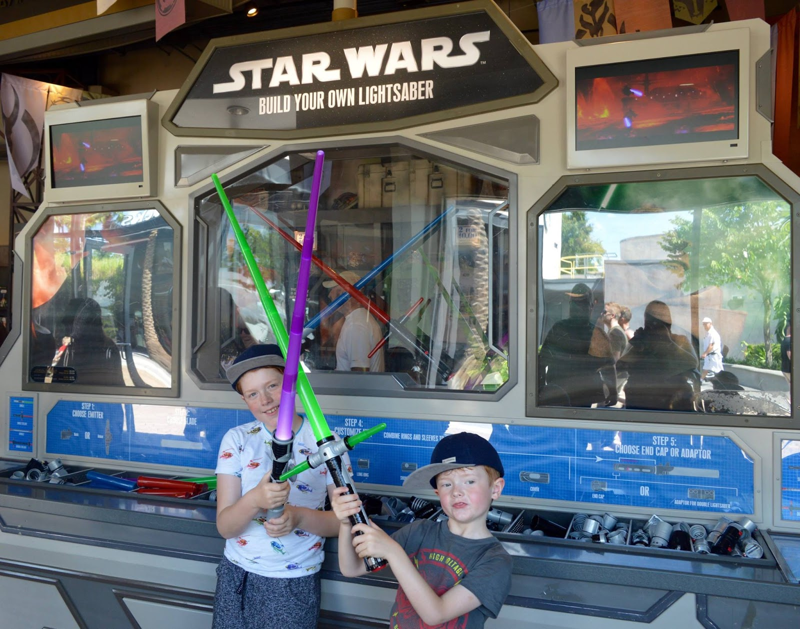 11 Things to do with Kids at Disney Springs Orlando, Florida  - Build your own light saber