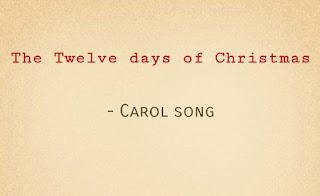 Tonic Solfa of 12 days of Christmas