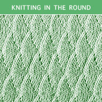Eyelet Lace 78 -Knitting in the round