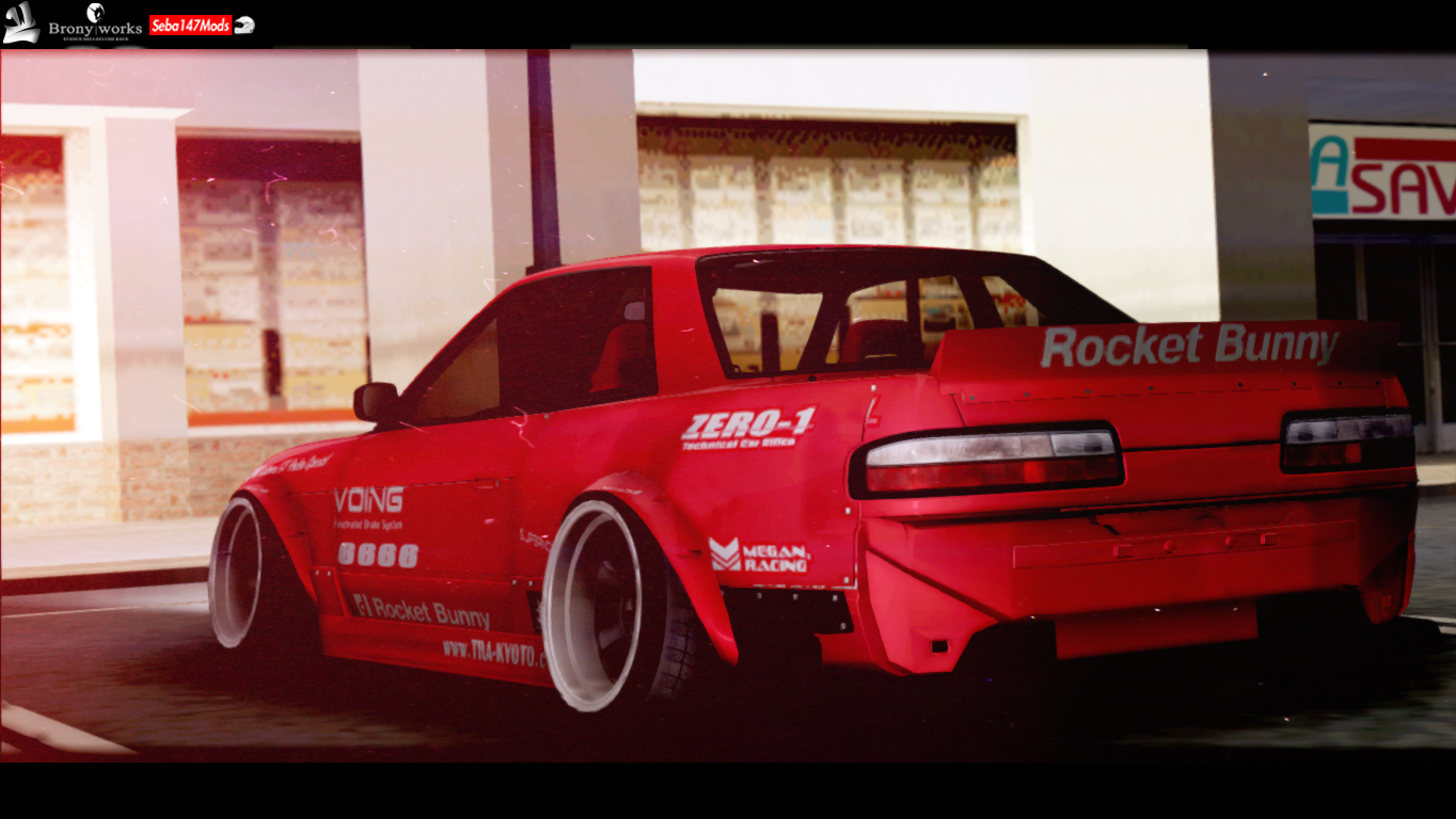 nissan silvia s13 rocket bunny by seba147 danitho wickedz jdm stance drift gta sa. Black Bedroom Furniture Sets. Home Design Ideas