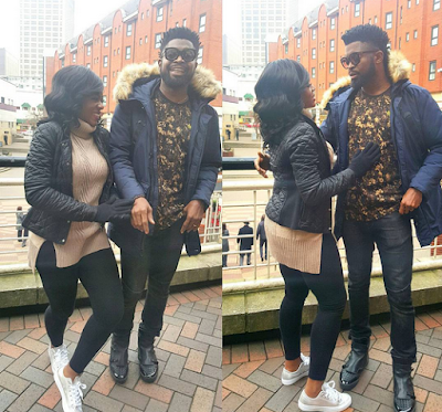 Bright Okpocha popularly called Basketmouth and his wife 22