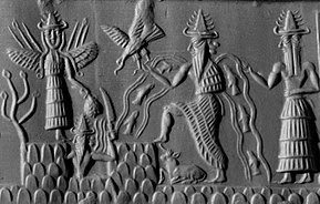 Sumerian carving relief.