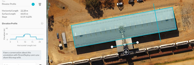 Drone Deploy Elevation Profile of Industrial Infrastructure - Image 2