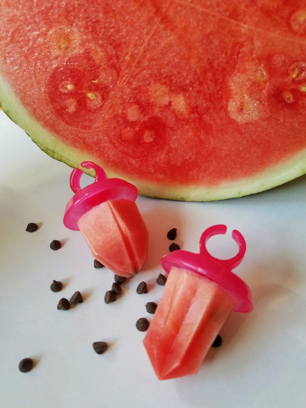 Watermelon agua fresco popsicles