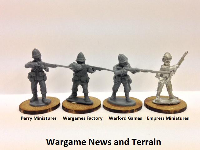 Perry Miniatures: Plastic British Zulu War Infantry Scale Comparison