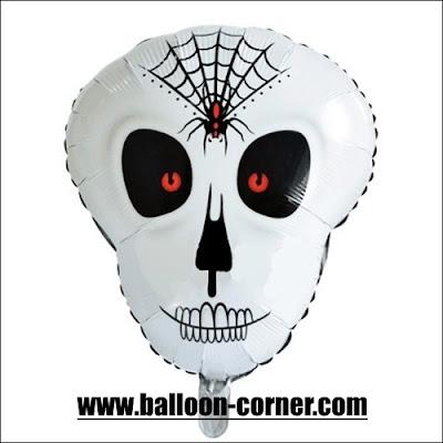 Balon Foil Kepala Tengkorak Halloween
