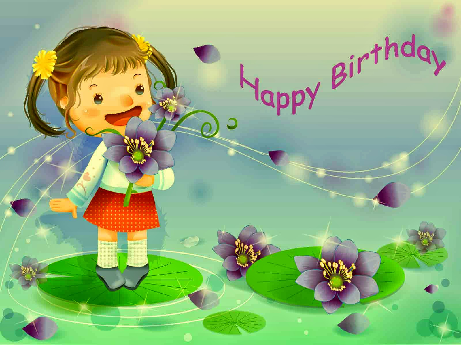 Happy Bday Wishes With Pics And Music Festival Cute Baby Girls Musical Cards For