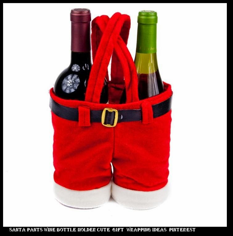 buy popular f4125 98e6b nike 90 air max ice Santa Pants Wine Bottle Holder Cute Gift Wrapping Ideas  ...