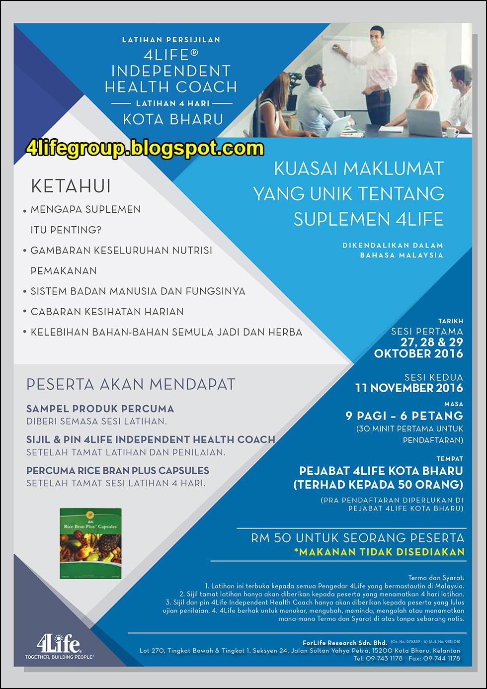 foto Latihan Persijilan 4Life Independent Health Coach @ Kota Bharu
