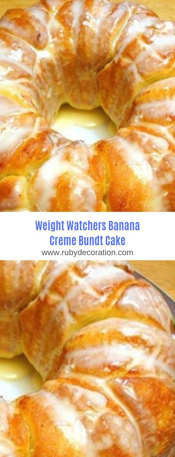 Weight Watchers Banana Creme Bundt Cake