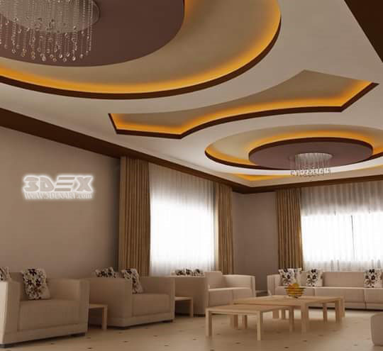 Modern gypsum board false ceiling designs prices for Living room designs 2018