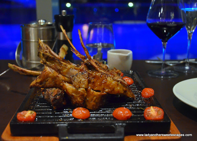 The Grill whole rack of lamb