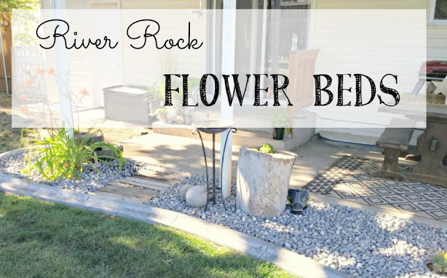 River Rock Flower Beds