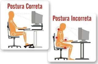 posição correta de ergonomia no trabalho