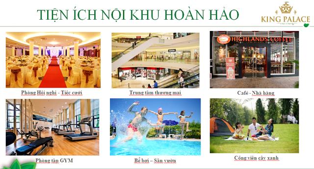 tiện ích hoàn hảo tại King palace Nguyễn Trãi