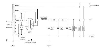 VinylSavor: The Octal Line Preamplifier, part 2 : Power Supply