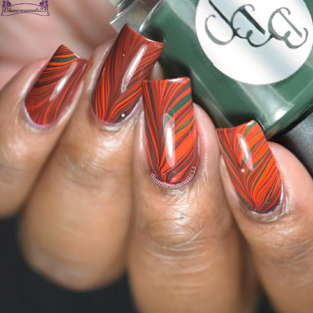 Watermarble Wednesdays: Red & Green