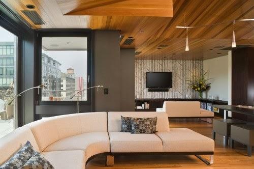 Salas con techos modernos - Ideas de salas con estilo