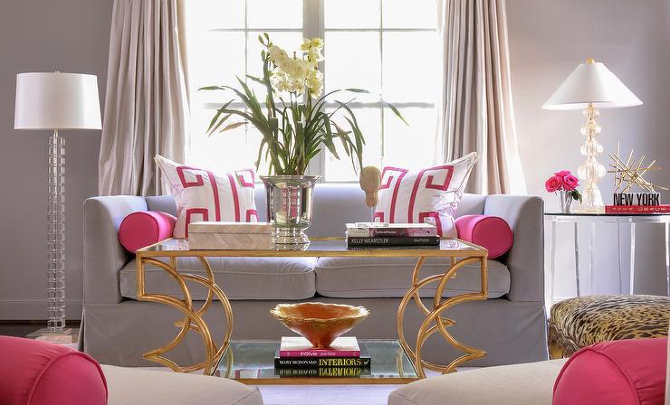 Sala De Estar Cor De Rosa ~ 20 Fotos de salas decoradas em cor de rosa ~ Decoração e Ideias